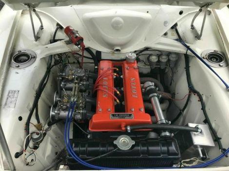 Cortina engine bay.